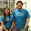 Cesar Chavez Convocation Committee leads, Elisa and Danny.